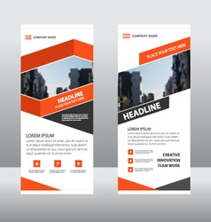 Orange Business Roll Up Banner template layout vector