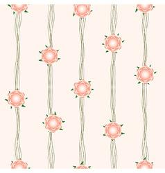 Orange Flower Vine Beige Background vector