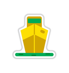 paper sticker on white background ship vector image