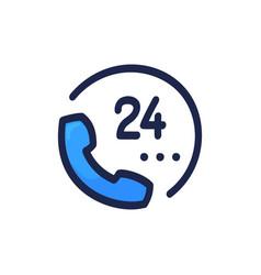 phone hand drawn cartoon icon hotline customer vector image