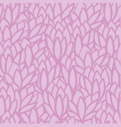 pink succulent leaf texture seamless pattern print vector image