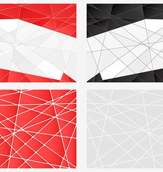 Polygon background set vector