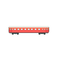 Red passenger train wagon railway carriage vector