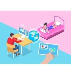 Remote video call vector