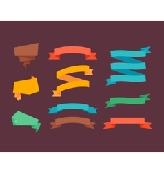 Retro flat ribbons vector