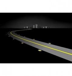 Road at night vector
