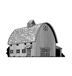 round roof barn vector image