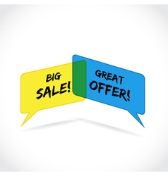 Sales offer vector image