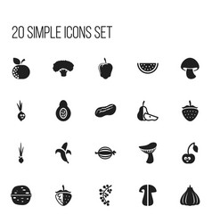 Set of 20 editable cooking icons includes symbols vector
