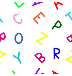 some letters of the latin alphabet vector image