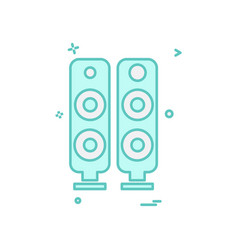 Speaker icon design vector