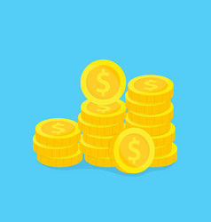 stack gold coins concept vector image