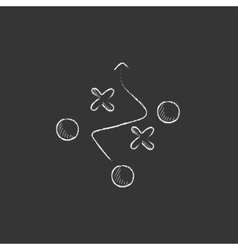 Tactical plan Drawn in chalk icon vector image