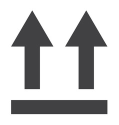 this side up symbol glyph icon logistic vector image