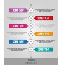 Timeline Infographics vertical vector image
