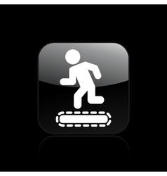treadmill single vector image
