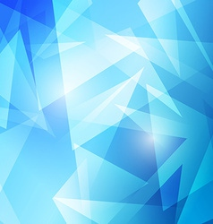 Triangles abstract blue modern background vector image