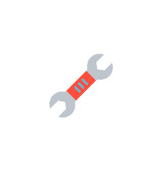 two-sided wrench icon flat element vector image