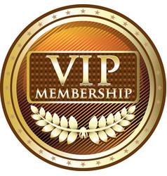 vip gold icon vector image