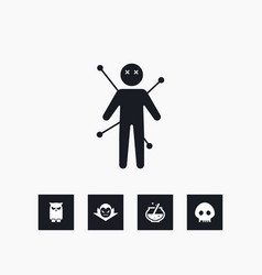 voodoo icon halloween set simple sign vector image