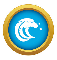 wave of sea tide icon blue isolated vector image
