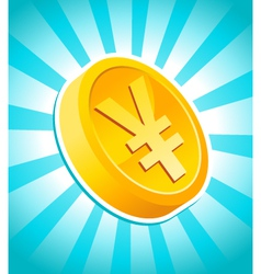 yen gold coin vector image