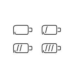 Battery set icons vector image