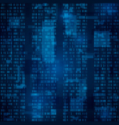 blue binary computer code background vector image
