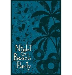 Night beach party flyer vector