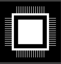 processor the white color icon vector image vector image