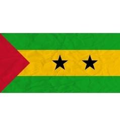 Sao Tome and Principe paper flag vector image