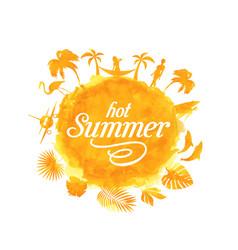 tropical summer beach party poster design vector image
