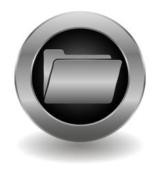 Metallic folder button vector image vector image