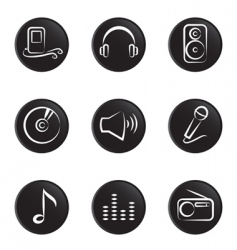 music object vector image vector image