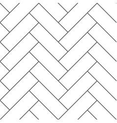 outline vintage wooden floor herringbone parquet vector image