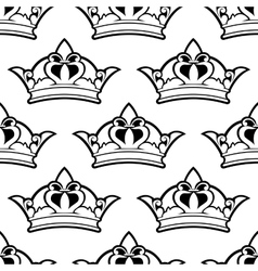 Royal crown seamless pattern vector image vector image
