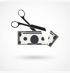 scissors cut money vector image