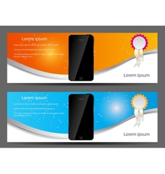 template for smart phone and mobile phone banner vector image