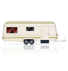 Trailer on the white background vector image