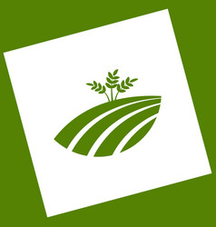 wheat field sign white icon obtained as a vector image vector image