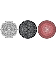 Beautiful mandala for coloring book round pattern vector