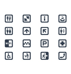 Public icons vector image vector image