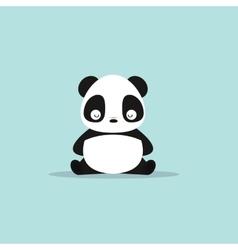 abstract cute panda vector image vector image