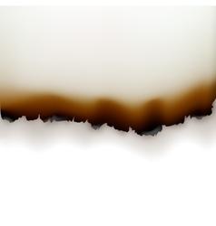 Burned Paper Edges on White Background vector image