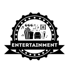 entertainment concept design vector image vector image