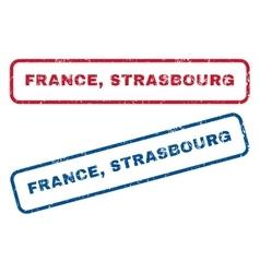France Strasbourg Rubber Stamps vector image vector image