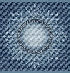 Jeans snowflake vector