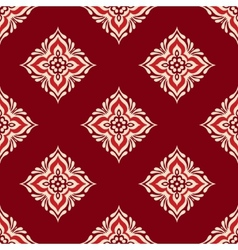 red geometric seamless design vector image vector image