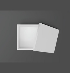 white open empty squares cardboard box top view vector image