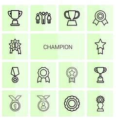 14 champion icons vector